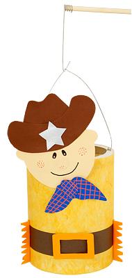 Cowboy Laterne basteln