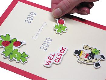 Silvesterkarte Schritt 4