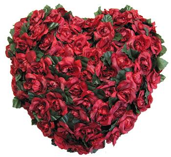 Rosenherz für den Valentinstag