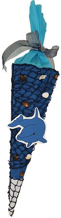 Schultüte Delphin