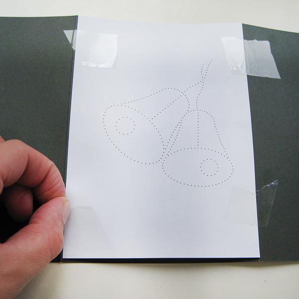 Fadengrafik Schritt 1