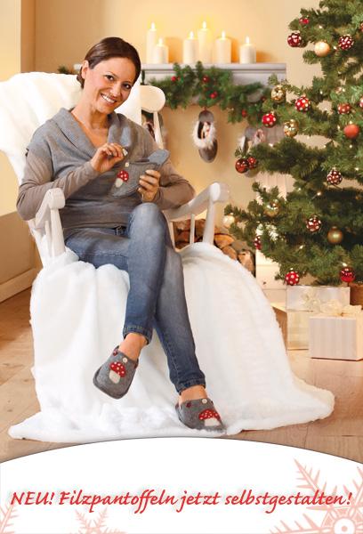 Weihnachts Filzpantoffeln