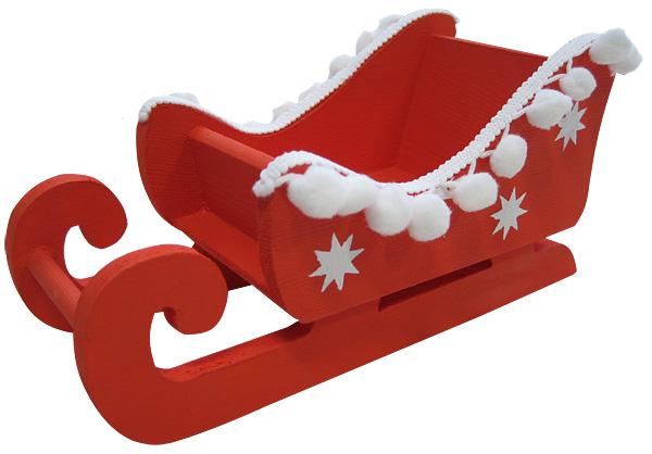 Bastelanleitung weihnachtlicher schlitten aus holz - Schlitten basteln pappe ...