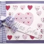 Herzchenkarte zu Muttertag