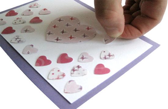 Herzchenkarte Schritt 3