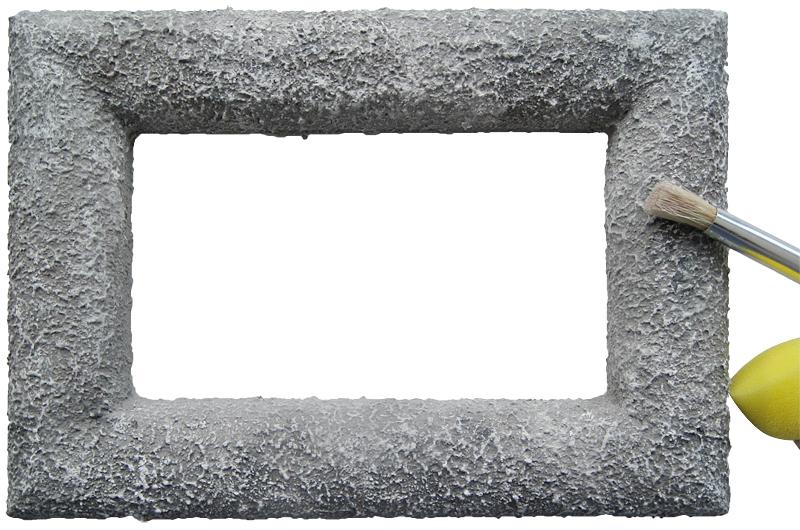 Styroporbilderrahmen_Steine_Schritt_2