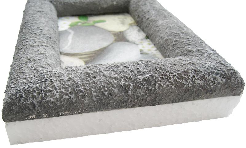 anleitung f r einen styroporbilderrahmen in steinoptik. Black Bedroom Furniture Sets. Home Design Ideas