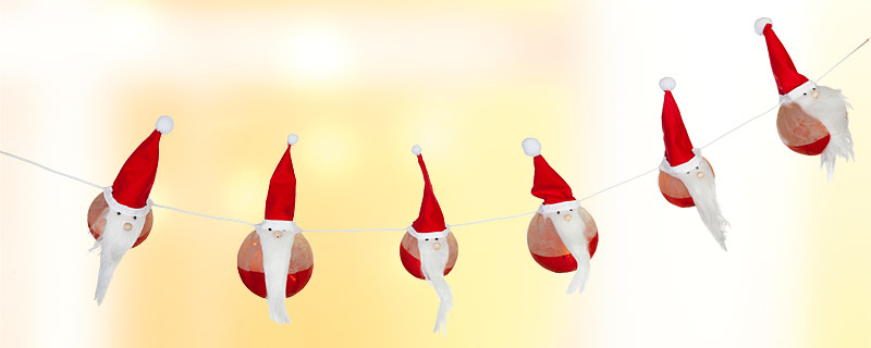Weihnachtsmänner-Lichterkette