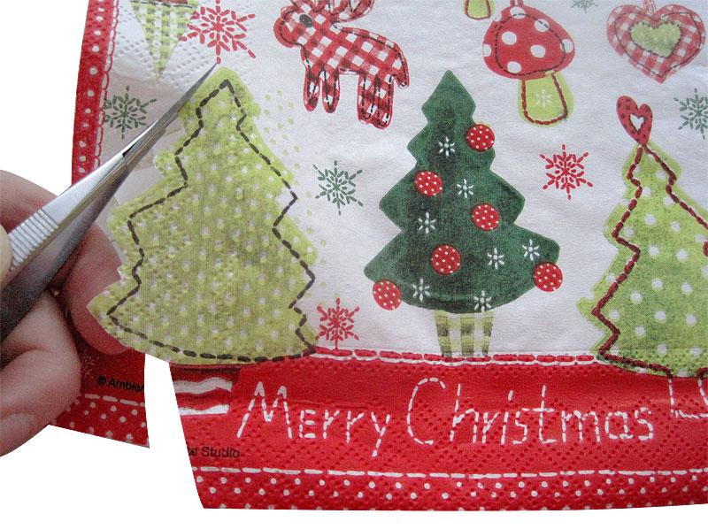 Weihnachtliche Lichttüten Schritt 1