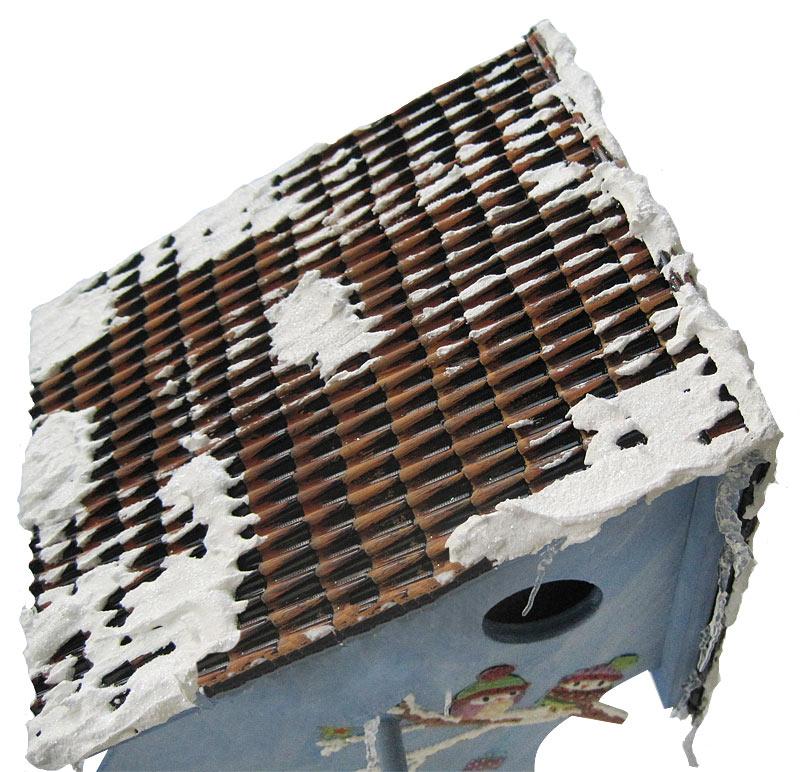 Winterliches Vogelhaus mit Eulen in 3D-Optik Schritt 10