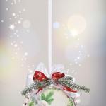 Winterliche Kunstoffkugel in 3D-Optik