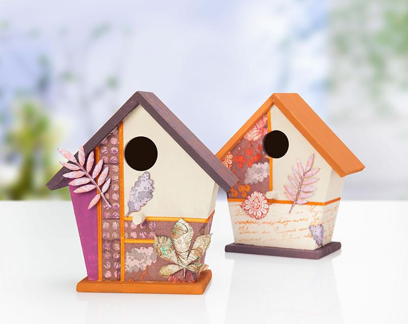 Vogelhaus Aus Holz Zum Bemalen ~   Holz Vogelhäuschen wunderschön bemalen und mit der beliebten 3D