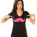 Moustache T-Shirt selbstgemacht