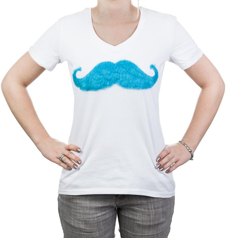 Neonblau Moustach