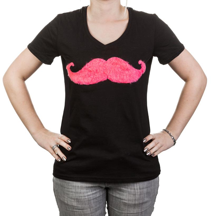 Neonrot Moustach