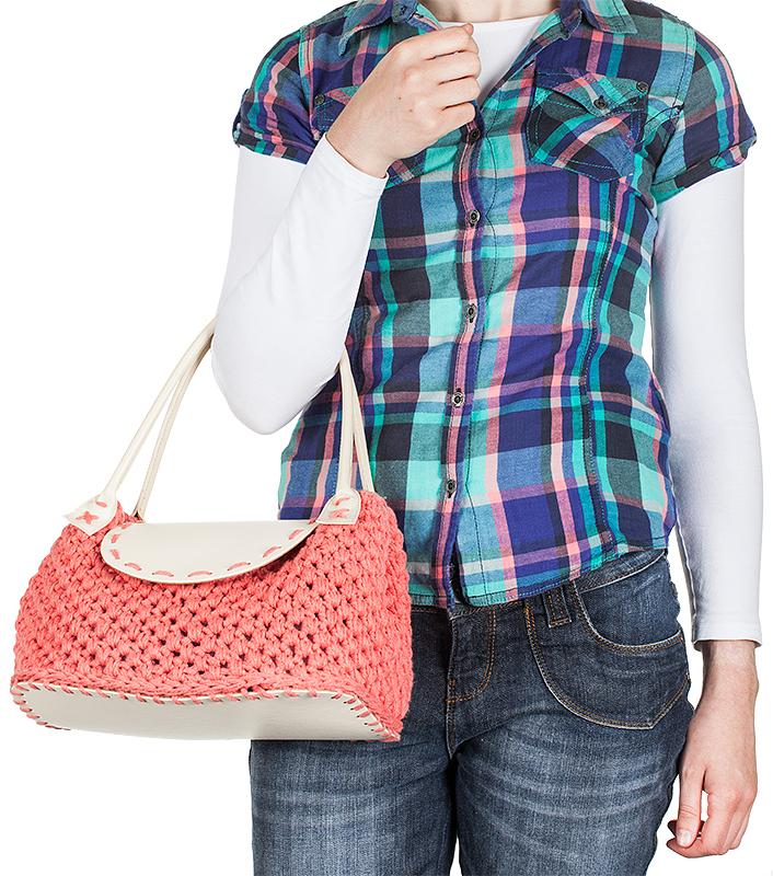 Kostenlose Anleitung: Häkeltasche in trendigen Sommerfarben selbermachen