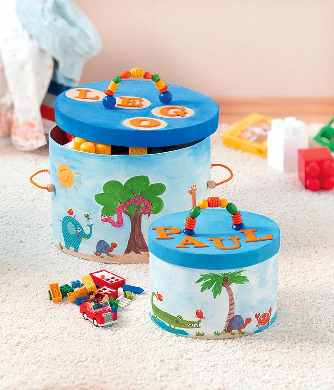 Pappschachteln Kinderzimmer