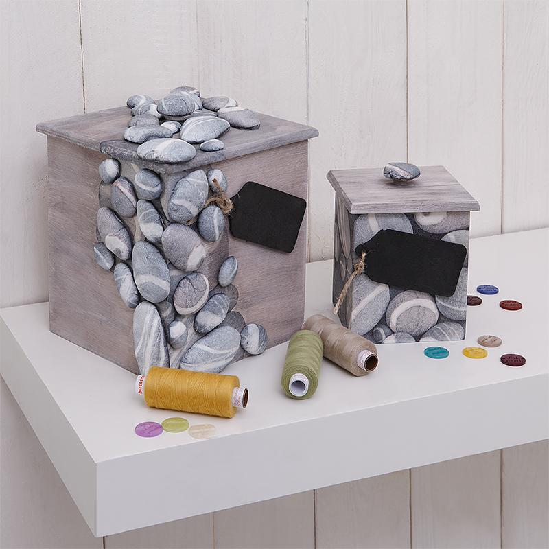 kostenlose anleitung holzdosen mit steinmotiv basteln. Black Bedroom Furniture Sets. Home Design Ideas