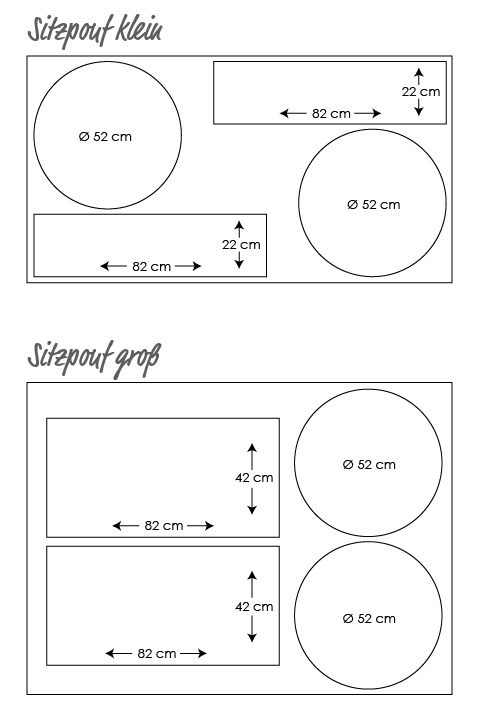 Kostenlose Anleitung Bezug Für Sitzpouf Oder Sitzkissen Nähen