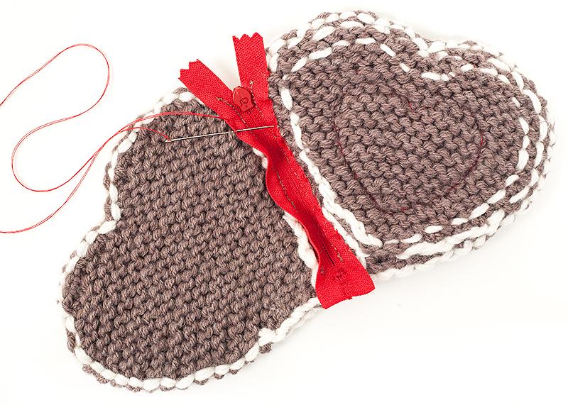 Kostenlose Anleitung Herzgeldbeutel Im Trachtenlook Stricken