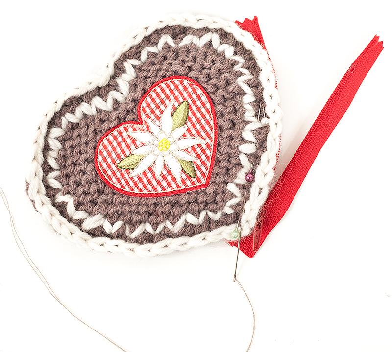 Herzgeldbeutel stricken Schritt 9