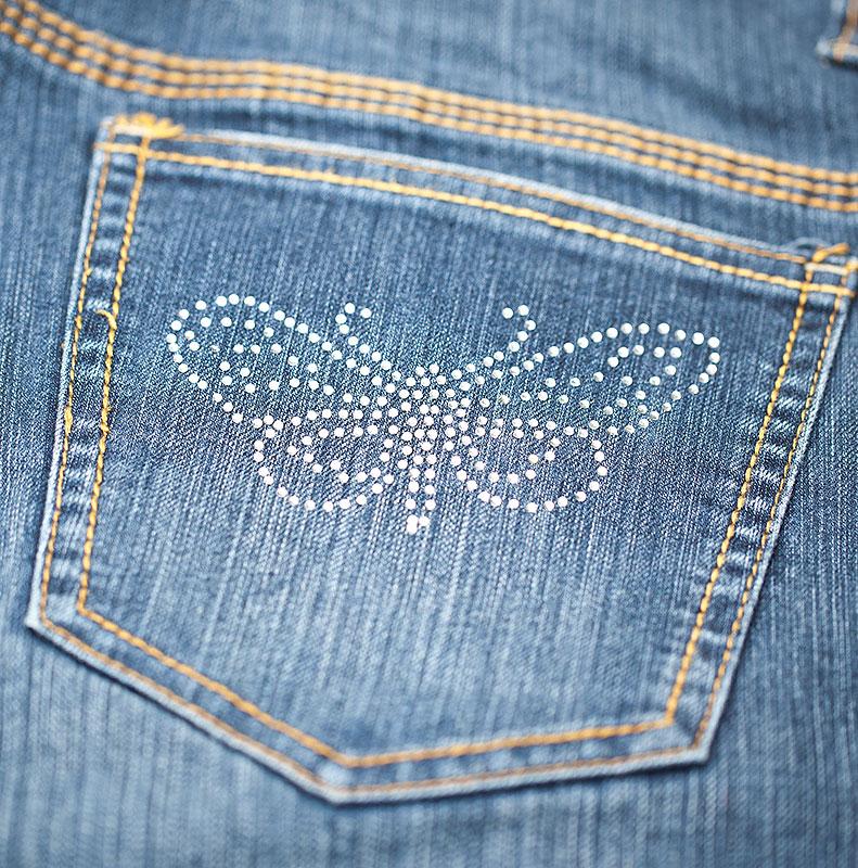 jeans-schmetterling