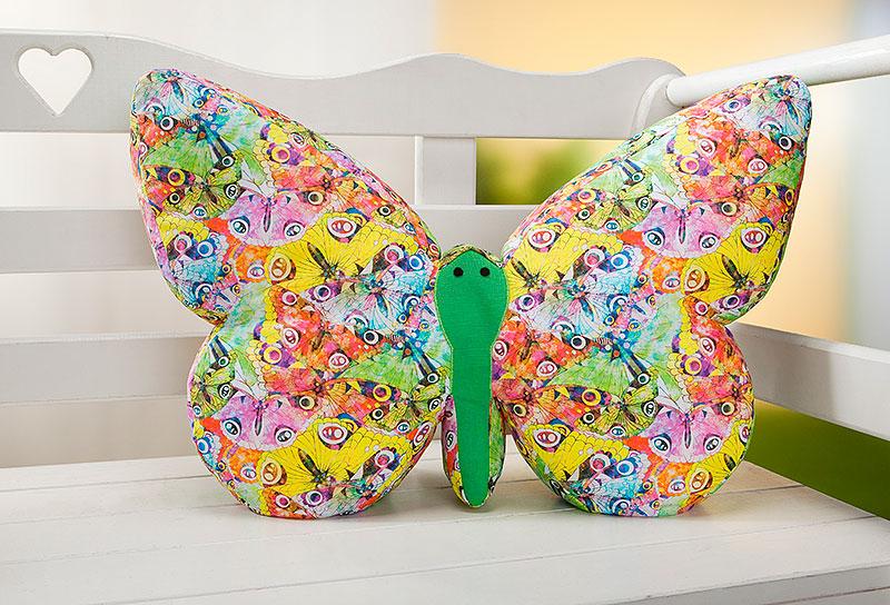 Schmetterling-Kissen nähen