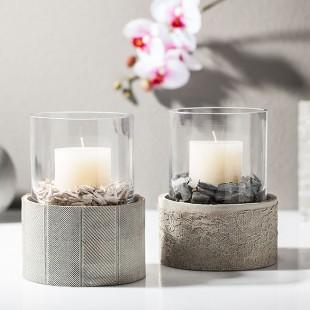 kreativ tipp windlicht aus kreativ beton basteln buttinette blog. Black Bedroom Furniture Sets. Home Design Ideas