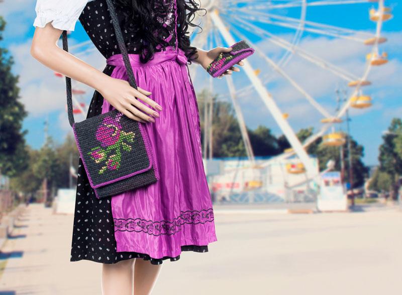 Anleitung Häkeltasche Mit Trachtenmuster