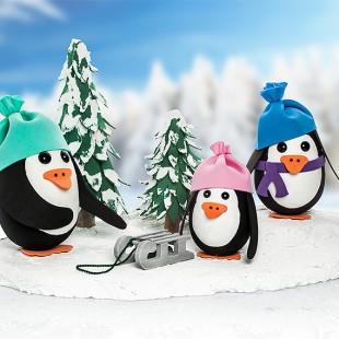 Deko Anleitung Susse Pinguine Aus Styropor Eiern Basteln