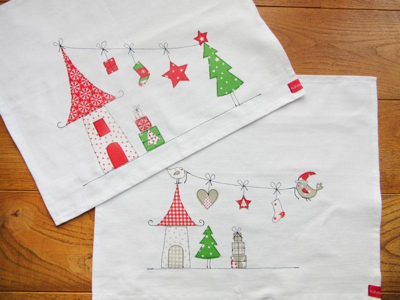 gastbeitrag weihnachtliche tischsets besticken. Black Bedroom Furniture Sets. Home Design Ideas