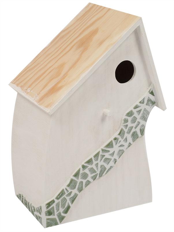 bastelanleitung vogelhaus provence mit mosaik steinen buttinette blog. Black Bedroom Furniture Sets. Home Design Ideas