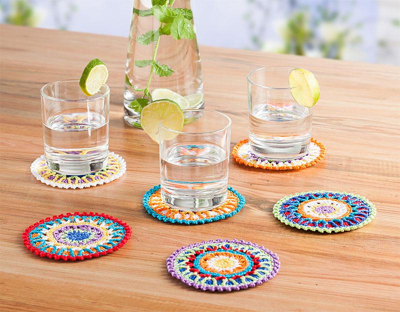 Kostenlose Anleitung Bunte Glasuntersetzer Für Den Sommer Häkeln