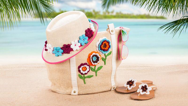 Anleitung Häkelblüten Als Sommerdeko Für Tasche Hüte Co