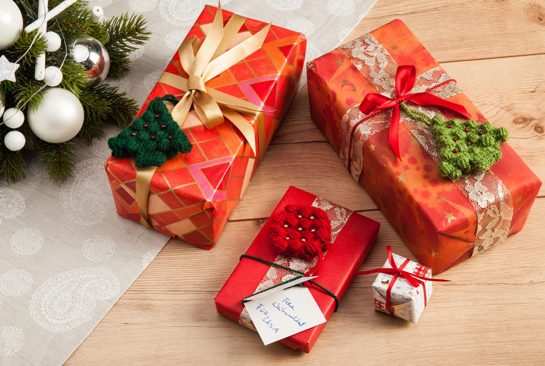 Anleitung Weihnachtliche Geschenkanhänger Tunesisch Häkeln