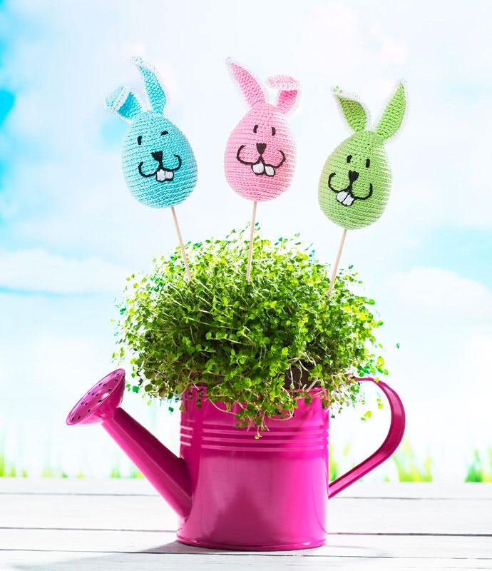Häkelanleitung Blumentopfstecker Hase Zu Ostern