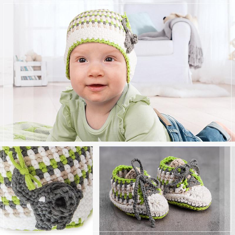 Anleitung Babymütze Und Babyschuhe Mit Myboshi Häkeln