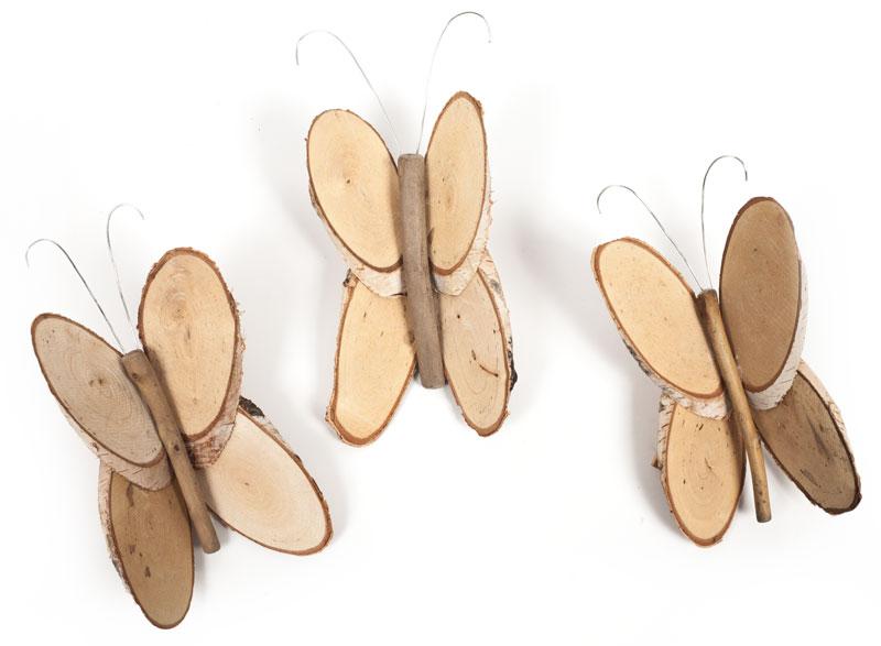 Anleitung Birkenscheiben Schmetterlinge Basteln