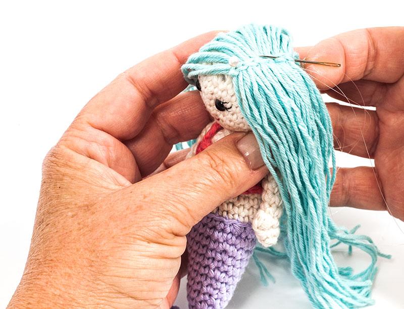 Kostenlose Anleitung Kleine Meerjungfrau Häkeln