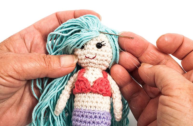 Kostenlose Anleitung: Kleine Meerjungfrau häkeln