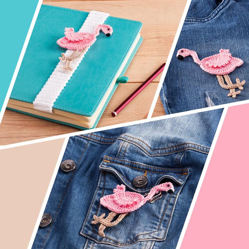 Anleitung Flamingo Applikation Häkeln