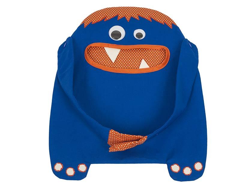Monster-Tasche nähen - Griffe anknöpfen