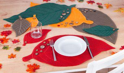 Rupfentischsets mit Glasuntersetzer -Schmuckbild