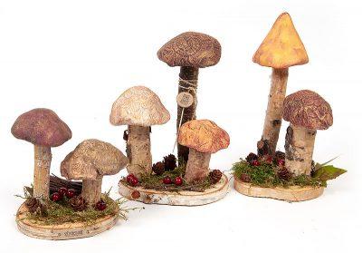 Pilze aus Modelliermasse - Schritt 12
