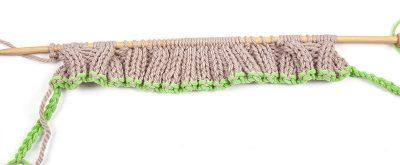 Loopschal mit Zopfmuster stricken - Schritt 16