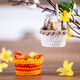 Mini-Osterkörbchen häkeln