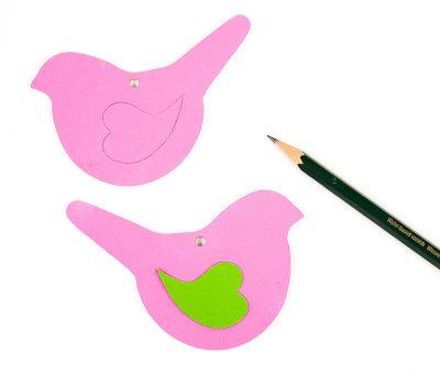 Tischkartenhalter in Vogelform - Schritt 5
