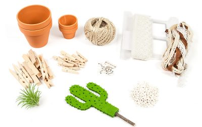 Kaktus Dekoration selber machen - Schritt 1