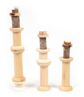 Leuchttürme aus Holzspulen basteln - Schritt 1