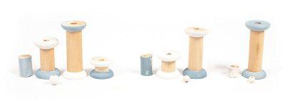 Leuchttürme aus Holzspulen basteln - Schritt 3
